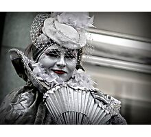A silvery smile Photographic Print