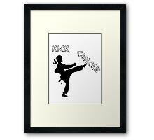 Kick Cancer Framed Print
