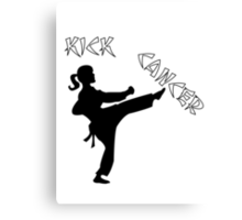 Kick Cancer Canvas Print