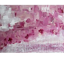 punctuate your life with these moments - abstract pink flowers Photographic Print