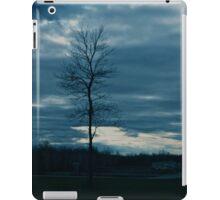 Dark skies and lonely tree iPad Case/Skin