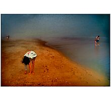 Five People On A Beach Photographic Print