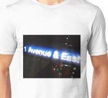 New York-Avenue & East Unisex T-Shirt