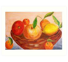 Basket of fruits Art Print