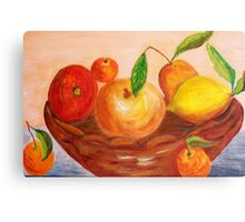 Basket of fruits Canvas Print