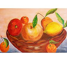 Basket of fruits Photographic Print