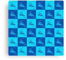 Dinos in Blue Canvas Print