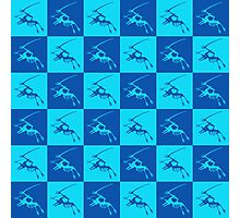 Dinos in Blue Photographic Print