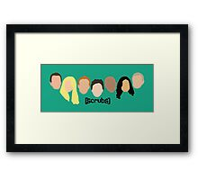 Scrub Heads Framed Print
