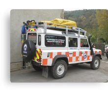 Mountain Rescue Team Land Rover Canvas Print