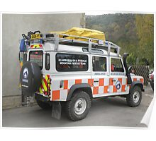 Mountain Rescue Team Land Rover Poster