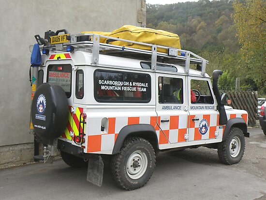Mountain Rescue Team Land Rover by Edward Denyer