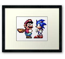 16-bit Rivals Framed Print