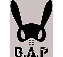B.A.P Bunny Logo Photographic Print