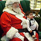 A Little Worried On Santa's Lap by Jane Neill-Hancock