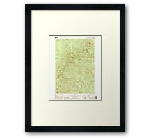 Maine USGS Historical Map Old Speck Mountain 102845 2000 24000 Framed Print