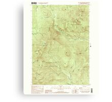 Maine USGS Historical Map Old Speck Mountain 102845 2000 24000 Canvas Print