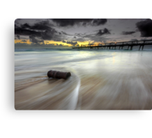 The Log & the Sweeping Wave - Gold Coast Qld Australia Canvas Print