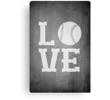 Baseball Love 2 Canvas Print