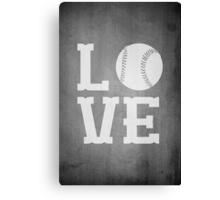 Baseball Love 2 Canvas Print