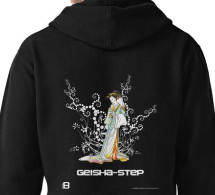 Geisha-Step Pullover Hoodie