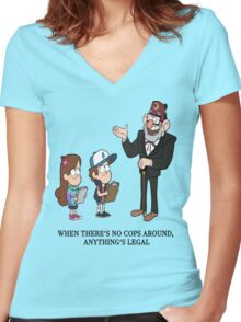No Cops Women's Fitted V-Neck T-Shirt