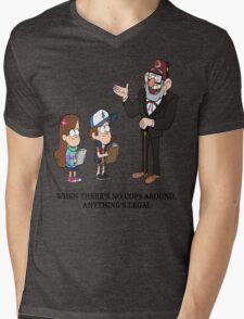 No Cops Mens V-Neck T-Shirt