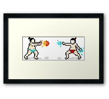 Sumo Fight! Framed Print