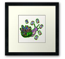 rainbow quartz beer snail Framed Print