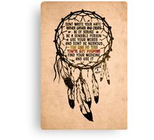 Manifesto | Nahko & MFTP Fan Made Design  Canvas Print