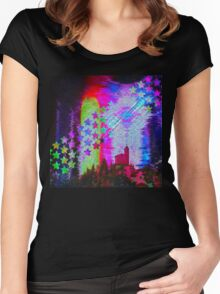 Another Psychedelic Design Women's Fitted Scoop T-Shirt