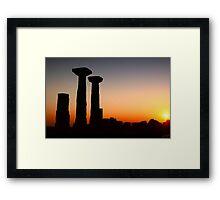 Temple Of Athena / ASSOS - Turkey Framed Print