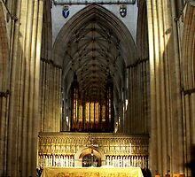 Altar in York Minster, Yorkshire by Bev Pascoe