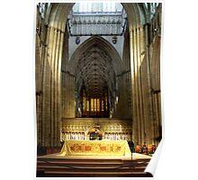 Altar in York Minster, Yorkshire Poster