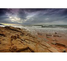 The Rock under a Stormy Sky Photographic Print