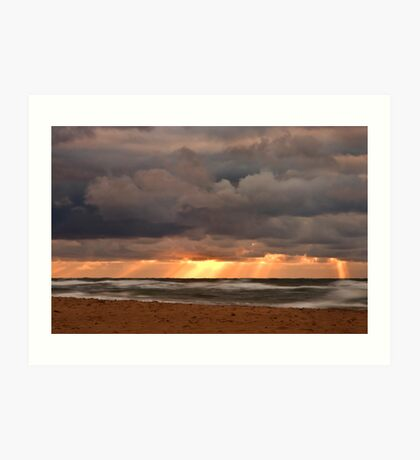 Sunset Rays from a Stormy Sky Art Print