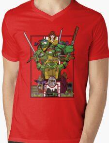 Enter the Turtles Mens V-Neck T-Shirt