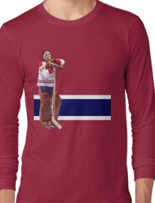 Ken Dryden - The Pose (red) Long Sleeve T-Shirt