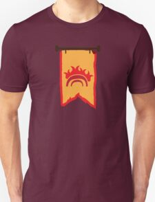 BANNER CREST SIGIL Burning Bridge (BRIDGEBURNERS) Unisex T-Shirt
