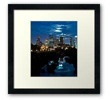 Houston Supermoon Framed Print