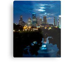 Houston Supermoon Metal Print