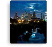 Houston Supermoon Canvas Print