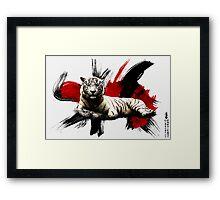 Japanese White Tiger Framed Print