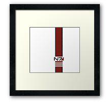 White N7 Stripe Framed Print