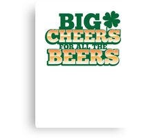 BIG CHEERS FOR ALL THE BEERS! IRISH beer shop design Canvas Print
