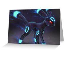 Umbreon Pokemon Cool Dark Eevee Evolution Greeting Card