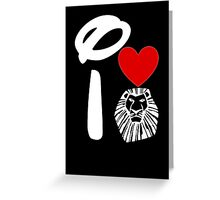 I Heart The Lion King (Inverted) Greeting Card