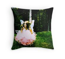 angel always at play Throw Pillow