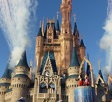 Cinderella's Castle Dream Along With Mickey by halfaheart