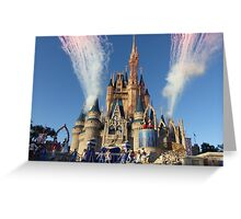 Cinderella's Castle Dream Along With Mickey Greeting Card